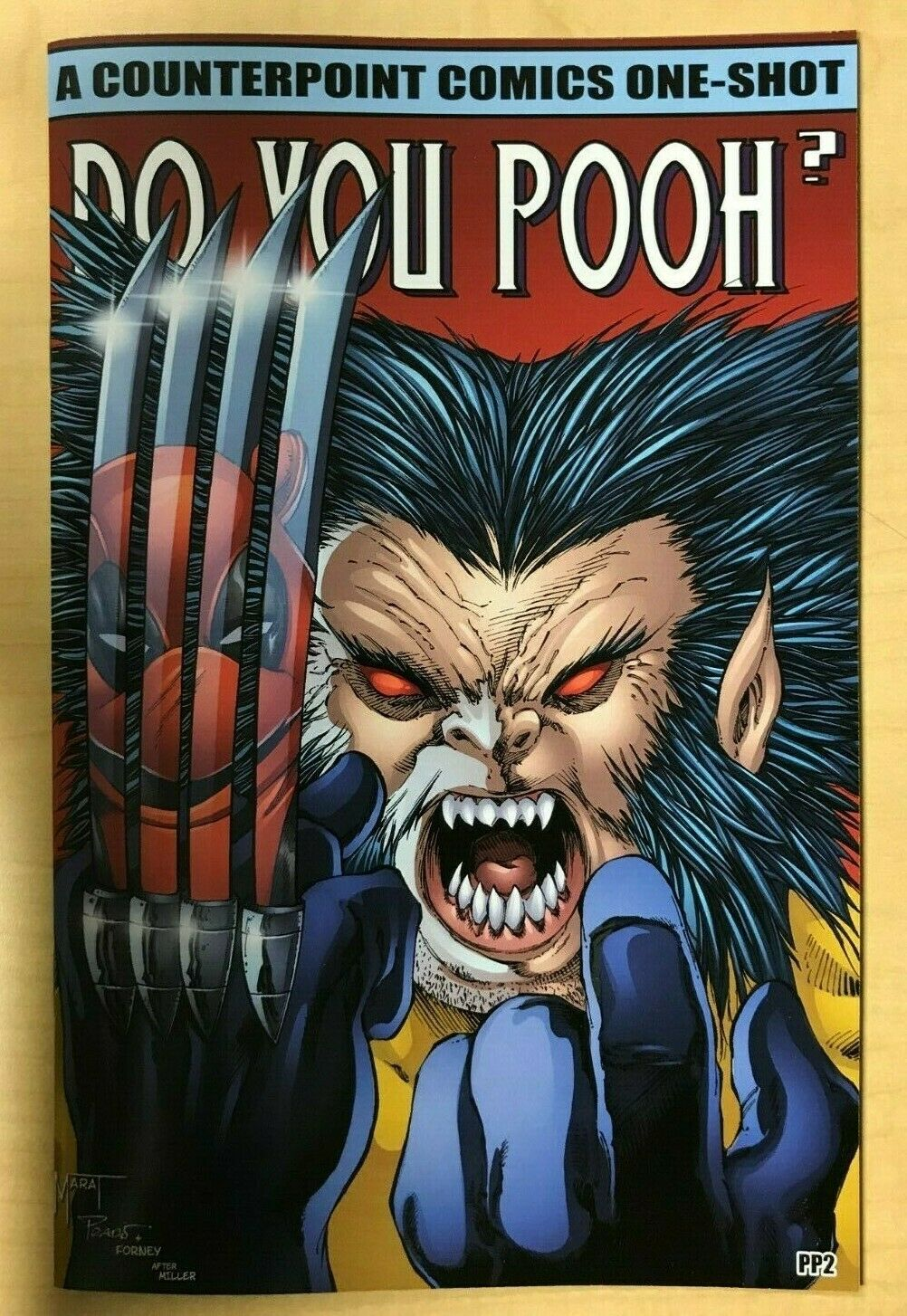 Do You Pooh Wolverine #1 Frank Miller Homage PROOF Variant by Marat Mychaels /10