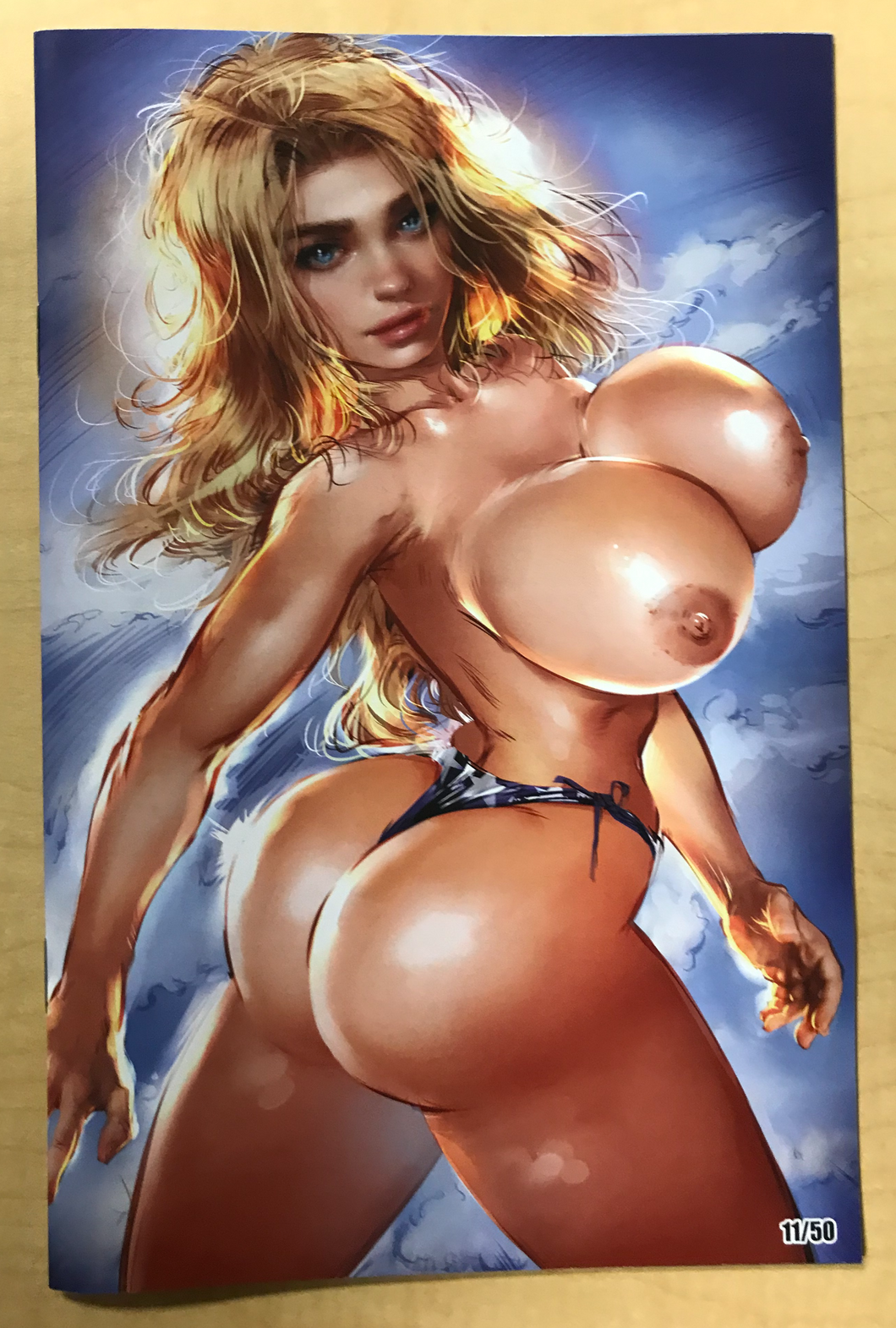 Patriotika: Forbidden Dreams Naughty Pin Up Book Ale Borgobello Naughty Topless Variant Cover Limited to Only 50 Copies!!!