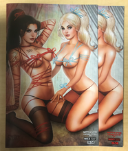 Load image into Gallery viewer, Notti & Nyce: Ménage a Trois #1 Ribbon & Bows Naughty & Nice 2 Book Matching Number Set by Nate Szerdy Only 50 Sets Made BooKooComix Exclusive!!!