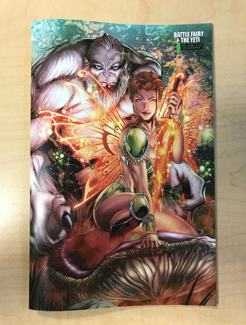 Battle Fairy & The Yeti #1 MARAT MYCHAELS Variant Cover BooKooComix Worldwide Exclusive Only 50 Copies Made!!!