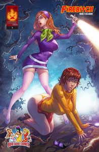 Firebitch #1 Velma & Daphne Nice & Naughty Cosplay Scooby Doo Set by Alfred Trujillo & Cara Nicole BooKooComix Exclusive Editions Limited to 69 Serial Numbered Sets!!!