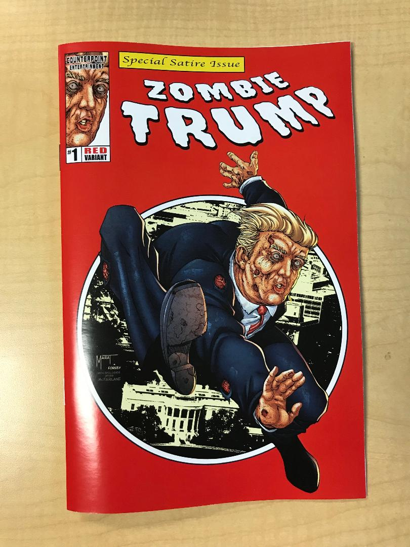 ZOMBIE TRUMP Red Republican Variant Cover & Ending by Marat Mychaels ASM 300 Homage Counterpoint Comics
