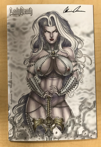 Lady Death: Revelations #1 NAUGHTY Edition Variant Cover by David Harrigan Signed by Brian Pulido w/ COA!!!