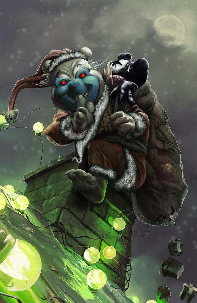 Do You Pooh? #1 Spawn #313 Bjorn Barends Variant VIRGIN Homage by Marat Mychaels 2020 BooKooComix Christmas Exclusive Only 50 Made!!!