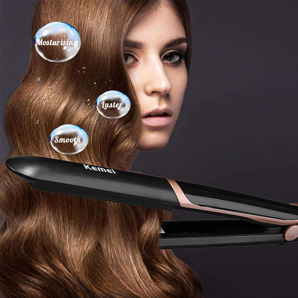 KEMEI™ 2 in 1 Straightener And Curler Hair