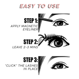 3 Pairs Magnetic Eyelashes & Magnetic Eyeliner Waterproof