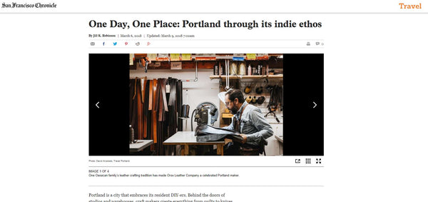 Orox is in the news! The SF Chronicle wrote about our DIY, craftsmanship contribution to the city of Portland.