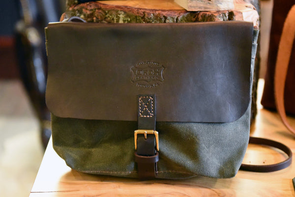 Cross Body Satchel Green