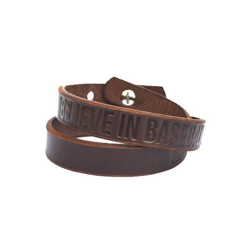 Believe in Baseball bracelet