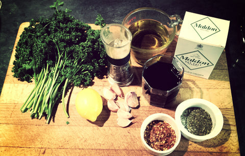 Chimichurri sauce - ingredients