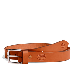 "1 1/2"" Classic Belt - Nickel/Chestnut"