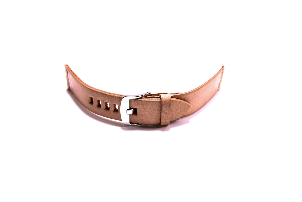 Classic Tan Leather Watchband