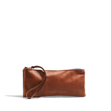 Orox Soft Tan Leather Zippered Clutch