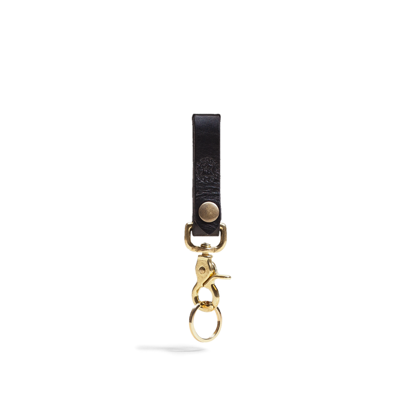 Hand crafted leather keychain with high quality luxury craftsmanship, an accessory made to last a lifetime.