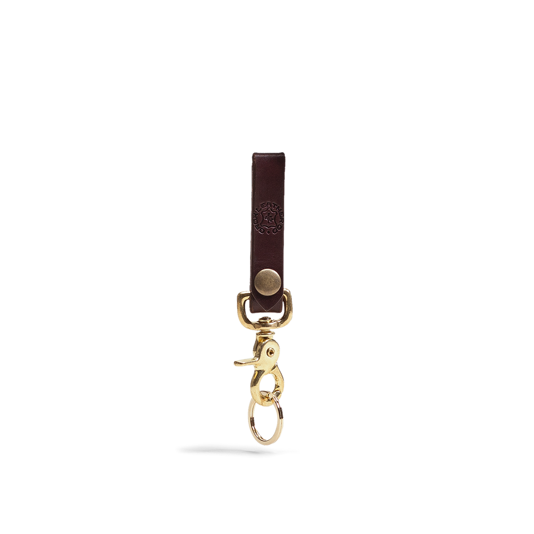 Orox Brown Leather Keychain with Brass Hardware