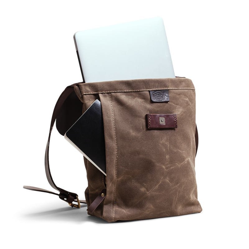 Hand crafted leather and canvas crossbody satchel with high quality luxury craftsmanship made to last a lifetime, made for men and women business professionals who travel in fashion.
