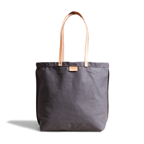 Orox Grey Canvas and Vegetable Tanned Leather Totes