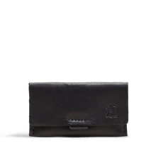 Orox Black Leather Horizontal Cardholder
