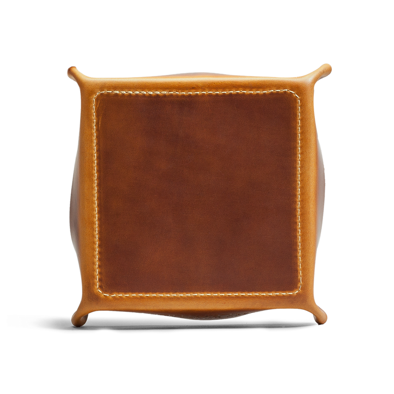 Hand crafted leather home goods with high quality luxury craftsmanship, an accessory made to last a lifetime.