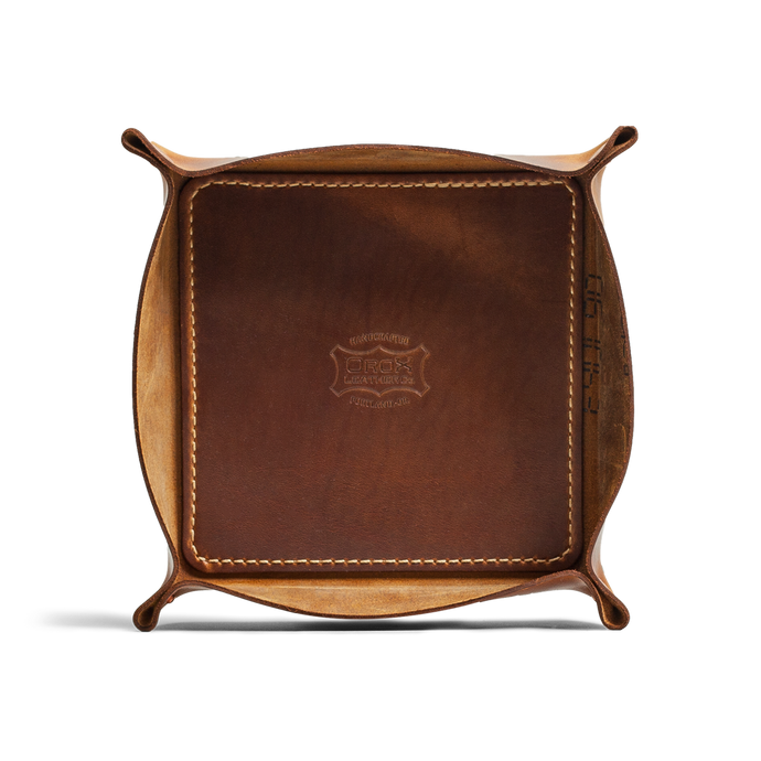 Orox Yellow Leather Tray