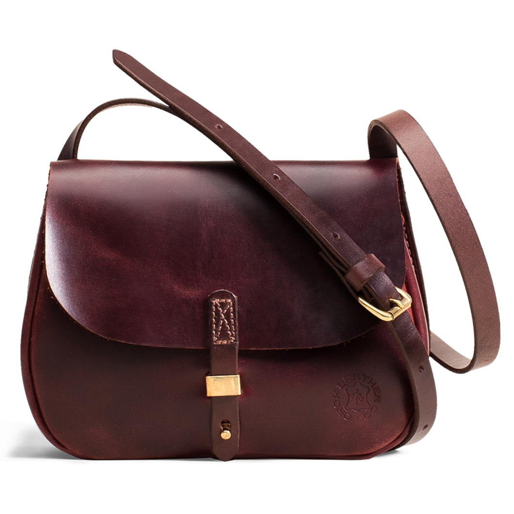 Orox Mahogany Leather Saddle Bag