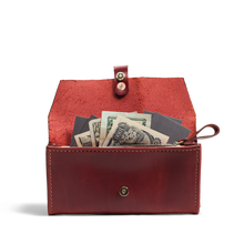 Orox Red Leather Women's Wallet