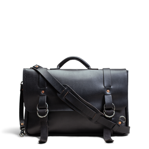 Orox Black Leather Briefcase