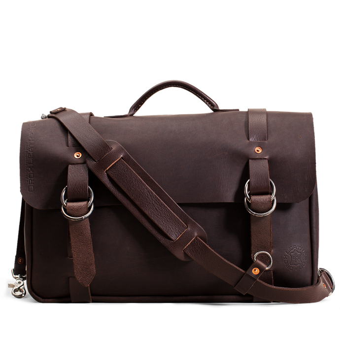 Orox Brown Leather Briefcase