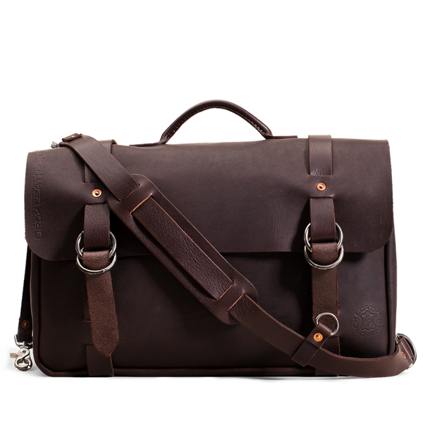 Hand crafted leather briefcase with high quality luxury craftsmanship made to last a lifetime, made for men and women to stay organized and travel in fashion.