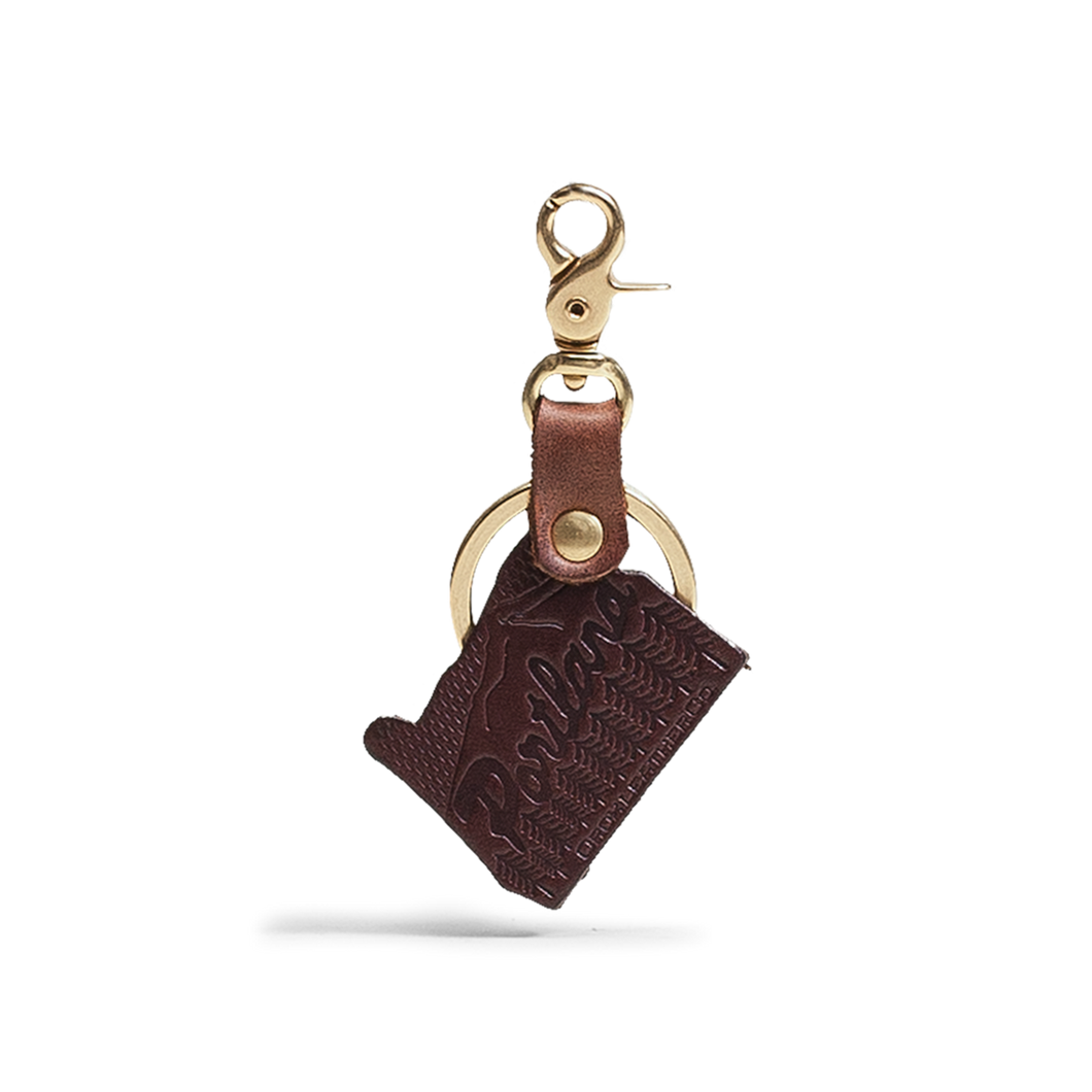Orox Brown Leather Oregon Keychain