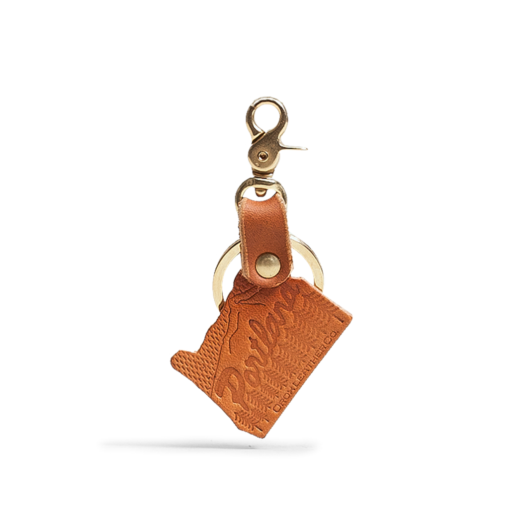 Orox Tan Leather Oregon Keychain