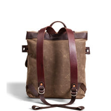 Orox Brown Leather and Brown Canvas Rucksack