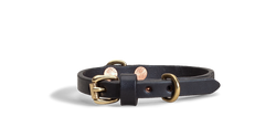 "1/2"" Classic Leather Collar (For Small Dogs) - Black"