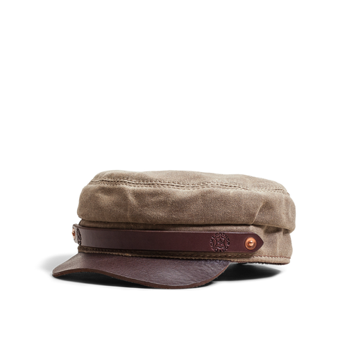Orox Brown Canvas and Brown Leather Hat