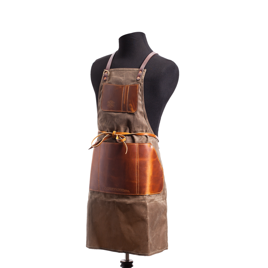 Orox Brown Canvas and Leather Apron
