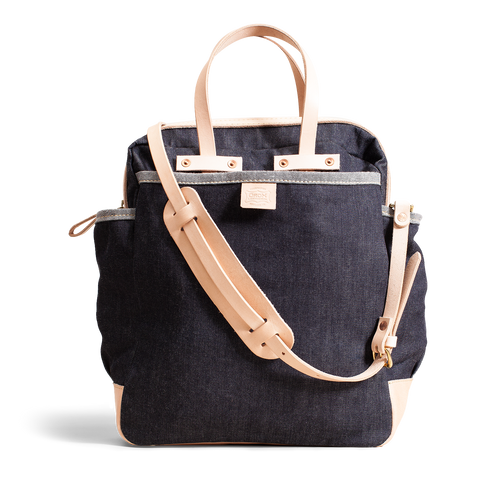 Orox Denim and Vegetable Tanned Leather Carryall