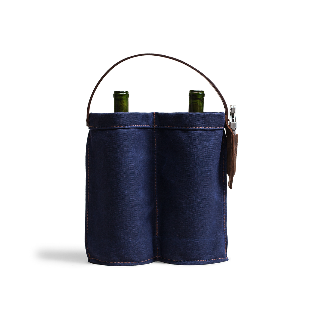 Orox Indigo Canvas Wine Caddy