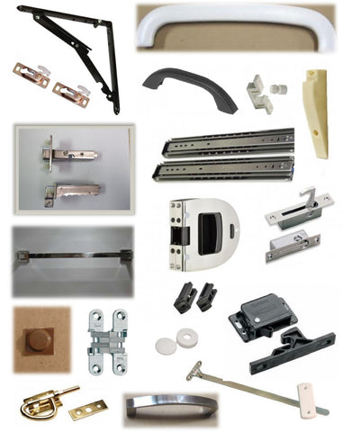 Interior Drawer Slides, Handles, Hinges & Latches