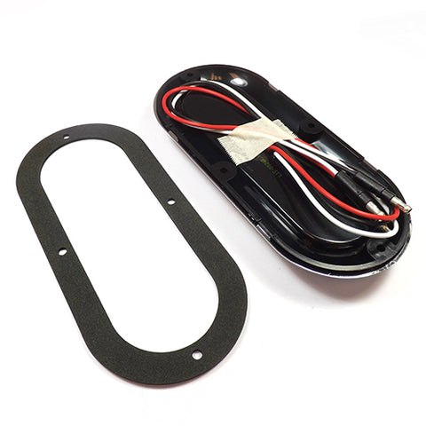 "6"" Oval Red LED Taillight Kit"
