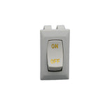 Interior Light Switch; Diamond Group; 16 Amp At 125 Volt AC/ 3/4 HP/ UL/ CSA/ VDE; Rocker; Single Pole Single Throw
