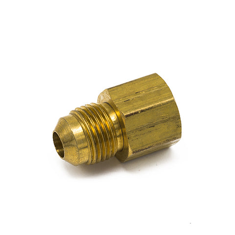 "Anderson Metals Brass Tube Fitting, Coupling, 3/8"" Flare x 1/2"" Female Pipe"
