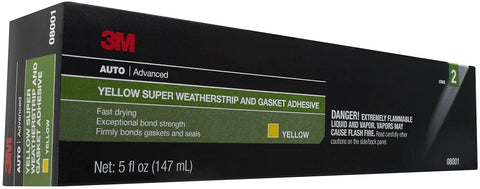 3M Super Weatherstrip and Gasket Adhesive, 08001, Yellow, 5 oz Tube