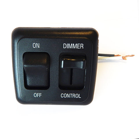 Valterra DGLD25VP Dimmer Switch; Diamond Group; Use With Any LED Compatible Bulb Or Fixture; Pulse Wave Modulation Type; 15 Amp/ 12 Volt DC; Black; With On/Off Switch