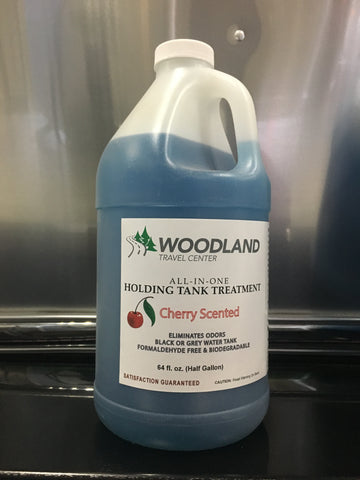 Woodland Travel Center All-In-One Holding Tank Treatment, Cherry Scent - 64 oz