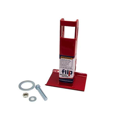 "Fastway Flip 88-00-6525 Trailer Tongue Automatic Fold-Up Jack Foot Plate 2"" Jacks-6"" Extension"