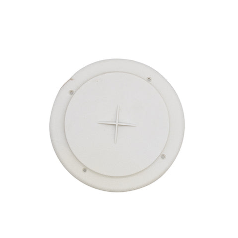 "Valterra A10-3354VP White Rotating Heat and A/C Register with Damper (4"" ID, 7"" OD)"