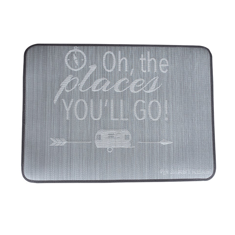 "Airstream ""Oh The Places You'll Go"" Entrance Mat"