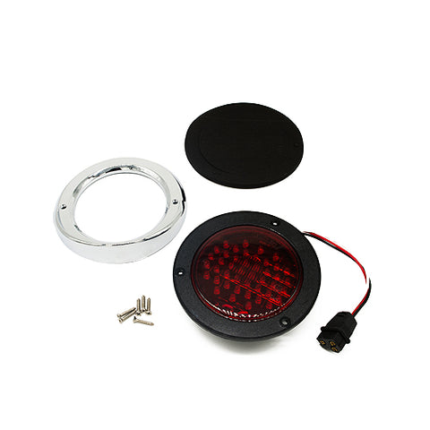 Airstream Round LED Tail Light Assembly, Curb Side