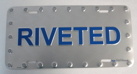 Airstream RIVETED License Plate