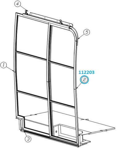 Airstream Screen Door, Forward For Interstate or Tommy Bahama Touring Coach - 112203